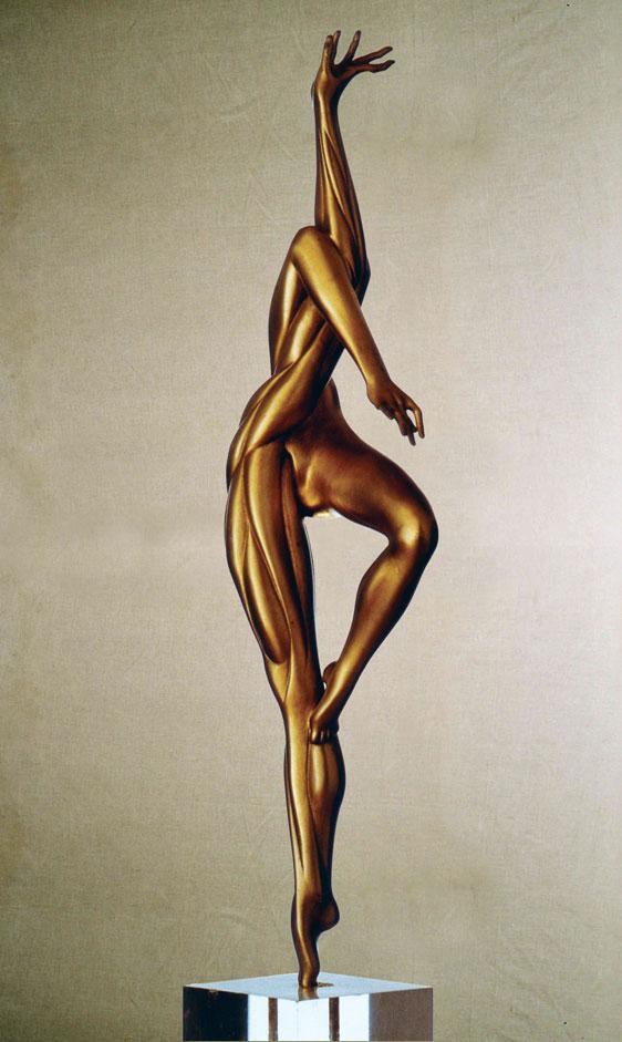 """Canto d'amore"": 138x40x30cm, bronzo, 1985 -> ""Armonia"" dell'Erotica - Gilbert Kruft"