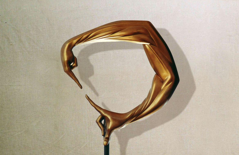 """""""Comunicabilità"""": h47cm, bronzo, 1982, il Vissuto-Gilbert Kruft"""