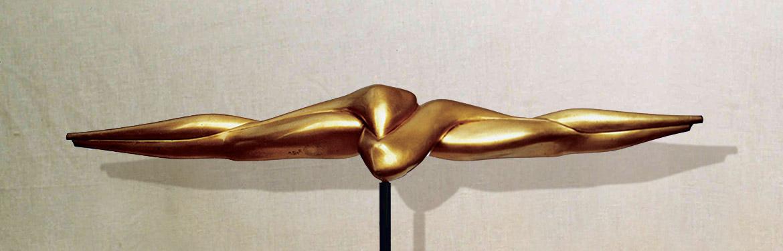 """""""Comunicabilità II"""": L112cm, bronzo,1977-il Vissuto- Gilbert Kruft"""