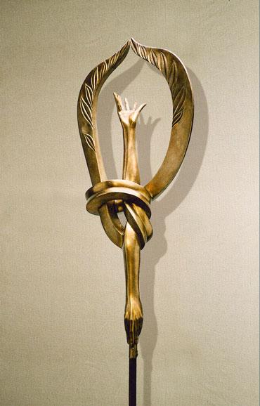 """Egocentrismo"": h89cm, bronzo, 2002-Le tre forme dell'Ego Umano Gilbert Kruft"