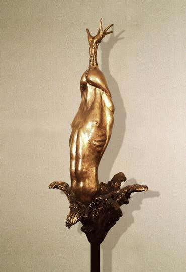 """Erezione"": 55cm, bronzo- Erotica- Gilbert kruft"