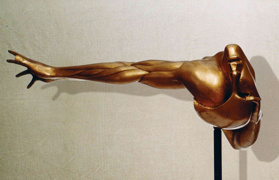 """""""Esasperazione R"""": L74cm, bronzo, 1974, il Vissuto-Gilbert Kruft"""