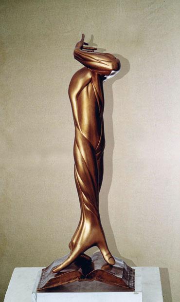 """""""Pretesa maschile"""": h45cm, bronzo su base in plexiglass,1977, il Vissuto - Gilbert Kruft"""
