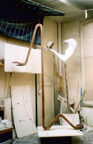 """Thanatos"", 1988- 1990, 182x124cm, gesso-La Conclusione- Gilbert Kruft"