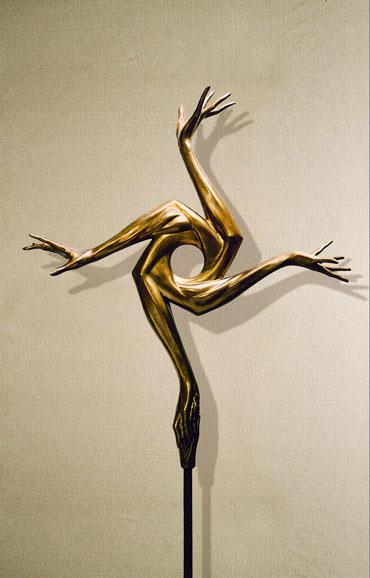 """Altruismo"": h89cm, bronzo, 2002-Le tre forme dell'Ego Umano Gilbert Kruft"