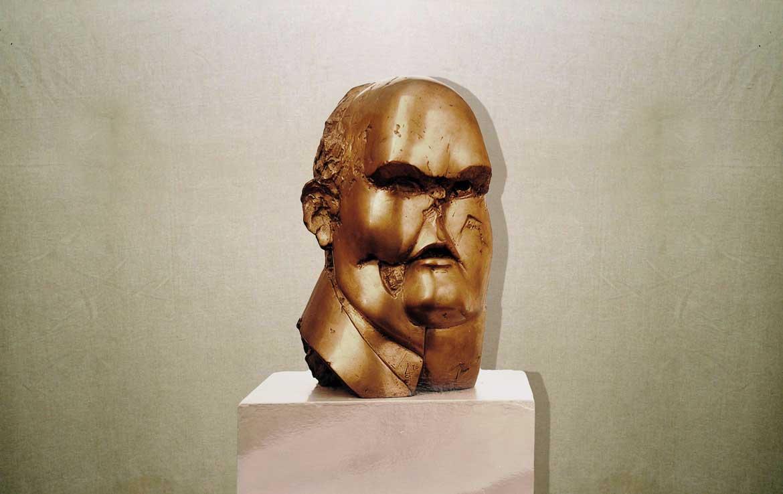 """Industriale"": h34cm, bronzo, 1976-Gilbert Kruft"