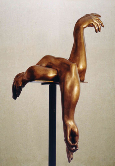 """""""Il silenzio dell'esaurimento"""": h80cm, bronzo, 1981- il Meditato- Gilbert kruft"""