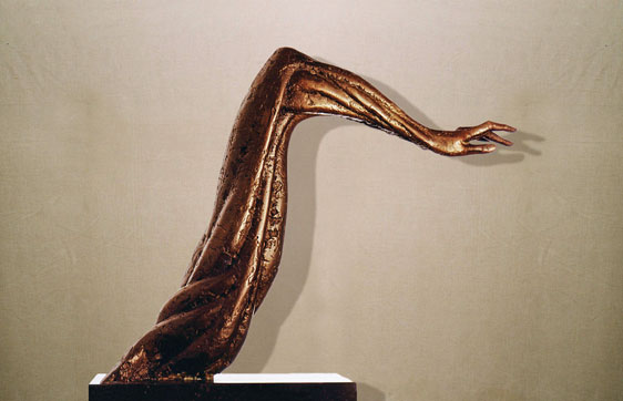 """""""Il silenzio dell'addio"""": h51cm, bronzo, 1982- il Meditato-Gilbert Kruft"""
