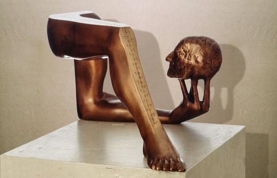 """""""Il silenzio filosofico"""": L58cm, bronzo, 1984- il Meditato- Gilbert Kruft"""