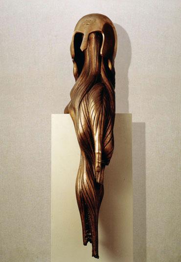 """""""Il silenzio del guerriero"""": h95cm, bronzo, 1985- il Meditato-Gilbert Kruft"""