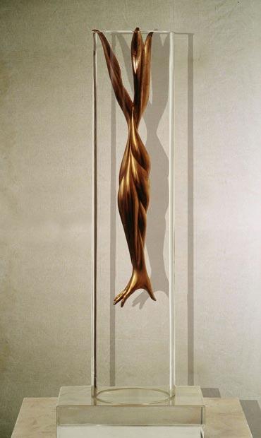 """""""Esasperazione"""": h33cm, bronzo su base in marmo, 1973, il Vissuto- Gilbert Kruft"""