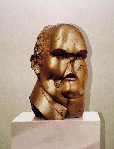 """""""Industriale"""": h34cm, bronzo, 1976 Gilbert Kruft- Il Visto"""