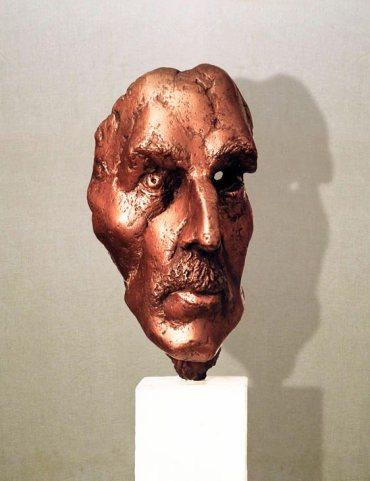 """Jean Paul Richtiger – poeta"": h28cm, bronzo, 1974 Gilbert Kruft"