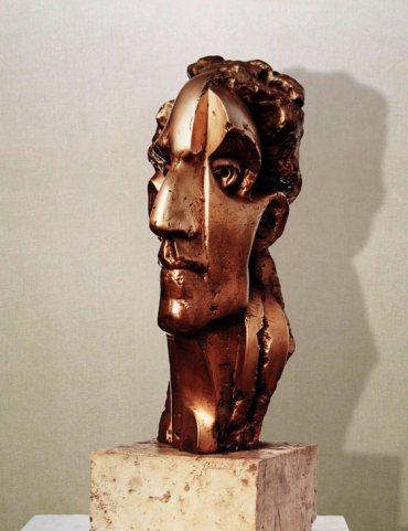 """Professor Fani"": h33cm, bronzo, 1974-il Visto- Gilbert Kruft"