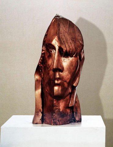 """""""Ragazza"""": h33cm, bronzo, 1976- Il Visto- Gilbert Kruft"""