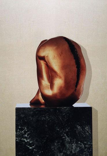 """""""Il silenzio dell'abbandono"""": h32cm, bronzo, 1986- il Meditato-Gilbert Kruft"""