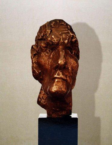 """Studente"": h24cm, bronzo, 1975- il Visto- Gilbert Kruft"