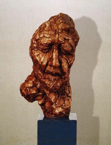"""Ezra Pound"": h27cm, bronzo,1976 Gilbert Kruft - Il Visto"