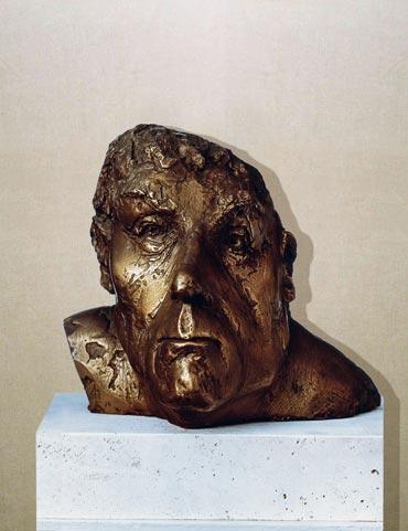 """Operaio II"": h26cm, bronzo, 1973-il Visto-Gilbert Kruft"