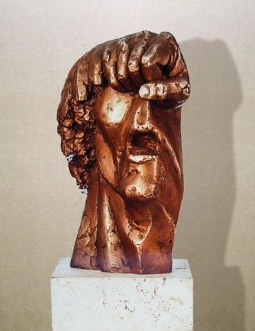 """""""Piazza Maggiore"""": h34cm, bronzo, 1976- Il Visto-Gilbert Kruft-"""